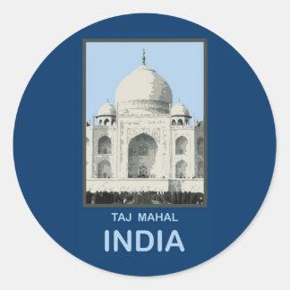 Taj Mahal India Round Sticker