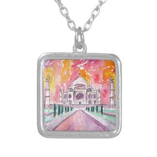 Taj Mahal India Silver Plated Necklace