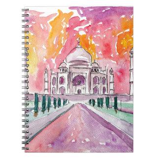 Taj Mahal India Spiral Notebook