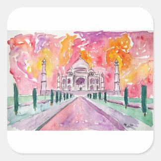 Taj Mahal India Square Sticker