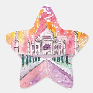 Taj Mahal India Star Sticker