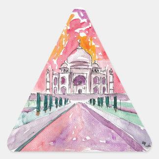 Taj Mahal India Triangle Sticker