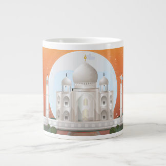 taj mahal large coffee mug