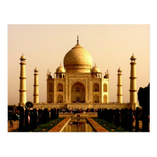 taj mahal mausoleum agra uttar pradesh grave mosqu postcard