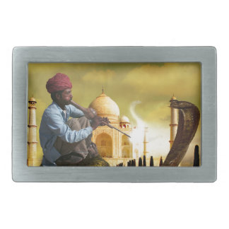 Taj Mahal Rectangular Belt Buckle