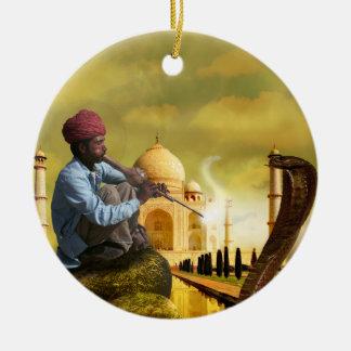 Taj Mahal Round Ceramic Ornament