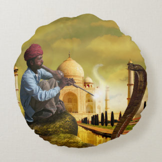 Taj Mahal Round Pillow