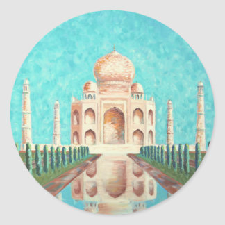 Taj Mahal Round Sticker
