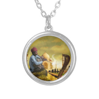 Taj Mahal Silver Plated Necklace