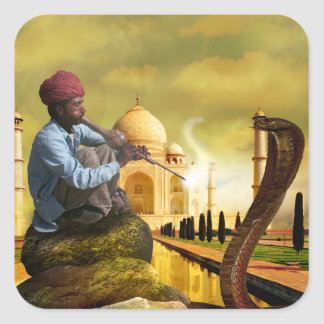 Taj Mahal Square Sticker