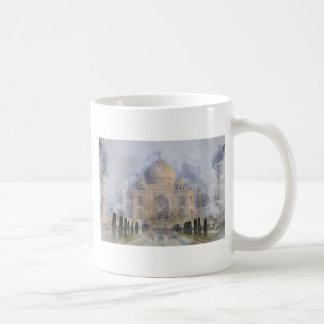 Taj Mahal Watercolor Coffee Mug