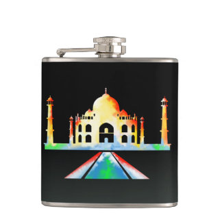 Taj Mahal Watercolor Flasks