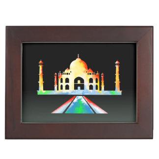 Taj Mahal Watercolour Painting Memory Boxes