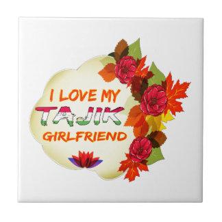 Tajik Girlfriend designs Ceramic Tile