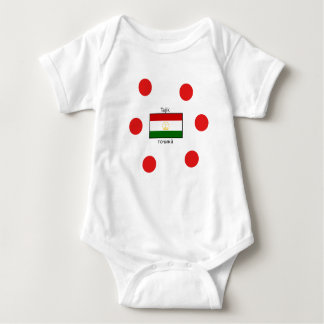 Tajik Language And Tajikistan Flag Design Baby Bodysuit