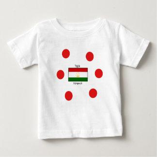 Tajik Language And Tajikistan Flag Design Baby T-Shirt