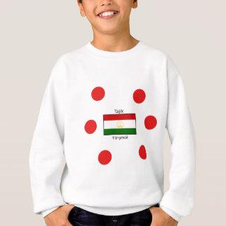 Tajik Language And Tajikistan Flag Design Sweatshirt