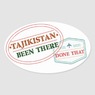 Tajikistan Been There Done That Oval Sticker