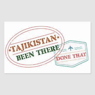 Tajikistan Been There Done That Sticker
