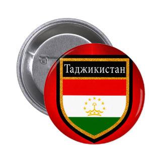 Tajikistan Flag 2 Inch Round Button