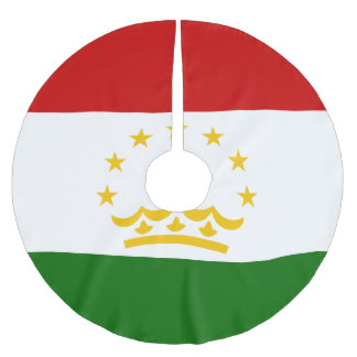 Tajikistan Flag Brushed Polyester Tree Skirt