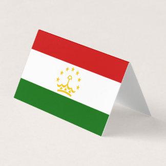 Tajikistan Flag Business Card
