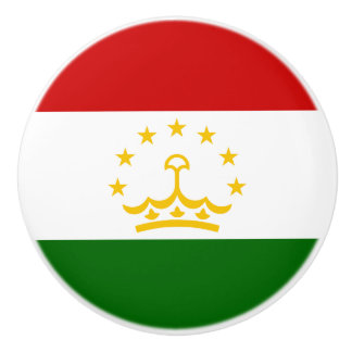 Tajikistan Flag Ceramic Knob