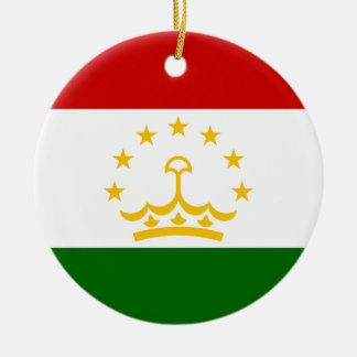Tajikistan Flag Ceramic Ornament