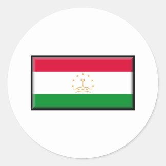 Tajikistan Flag Classic Round Sticker