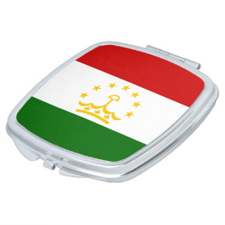 Tajikistan Flag Makeup Mirror