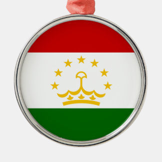 Tajikistan Flag Metal Ornament