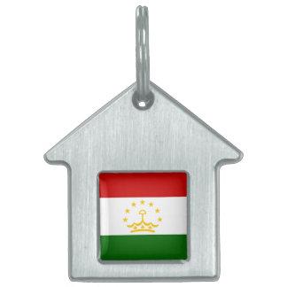 Tajikistan Flag Pet ID Tag