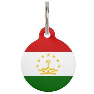 Tajikistan Flag Pet Name Tag