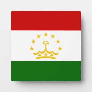 Tajikistan Flag Plaque
