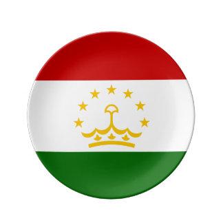 Tajikistan Flag Plate
