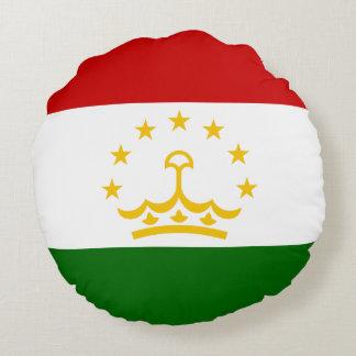 Tajikistan Flag Round Pillow