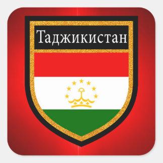 Tajikistan Flag Square Sticker