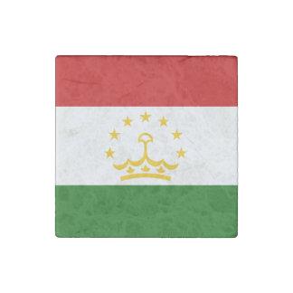 Tajikistan Flag Stone Magnets