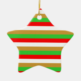 Tajikistan flag stripes ceramic ornament