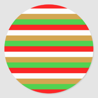 Tajikistan flag stripes classic round sticker