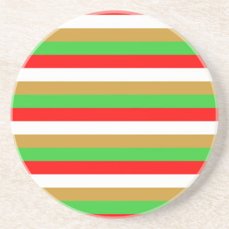 Tajikistan flag stripes coaster