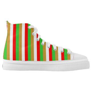 Tajikistan flag stripes color lines pattern high tops