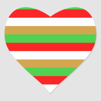 Tajikistan flag stripes heart sticker