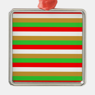 Tajikistan flag stripes metal ornament