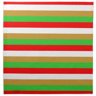 Tajikistan flag stripes napkin