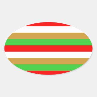 Tajikistan flag stripes oval sticker