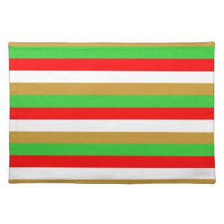 Tajikistan flag stripes placemat