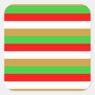 Tajikistan flag stripes square sticker