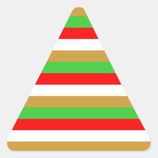 Tajikistan flag stripes triangle sticker