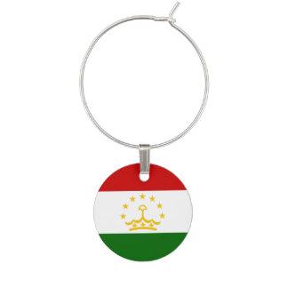 Tajikistan Flag Wine Charm